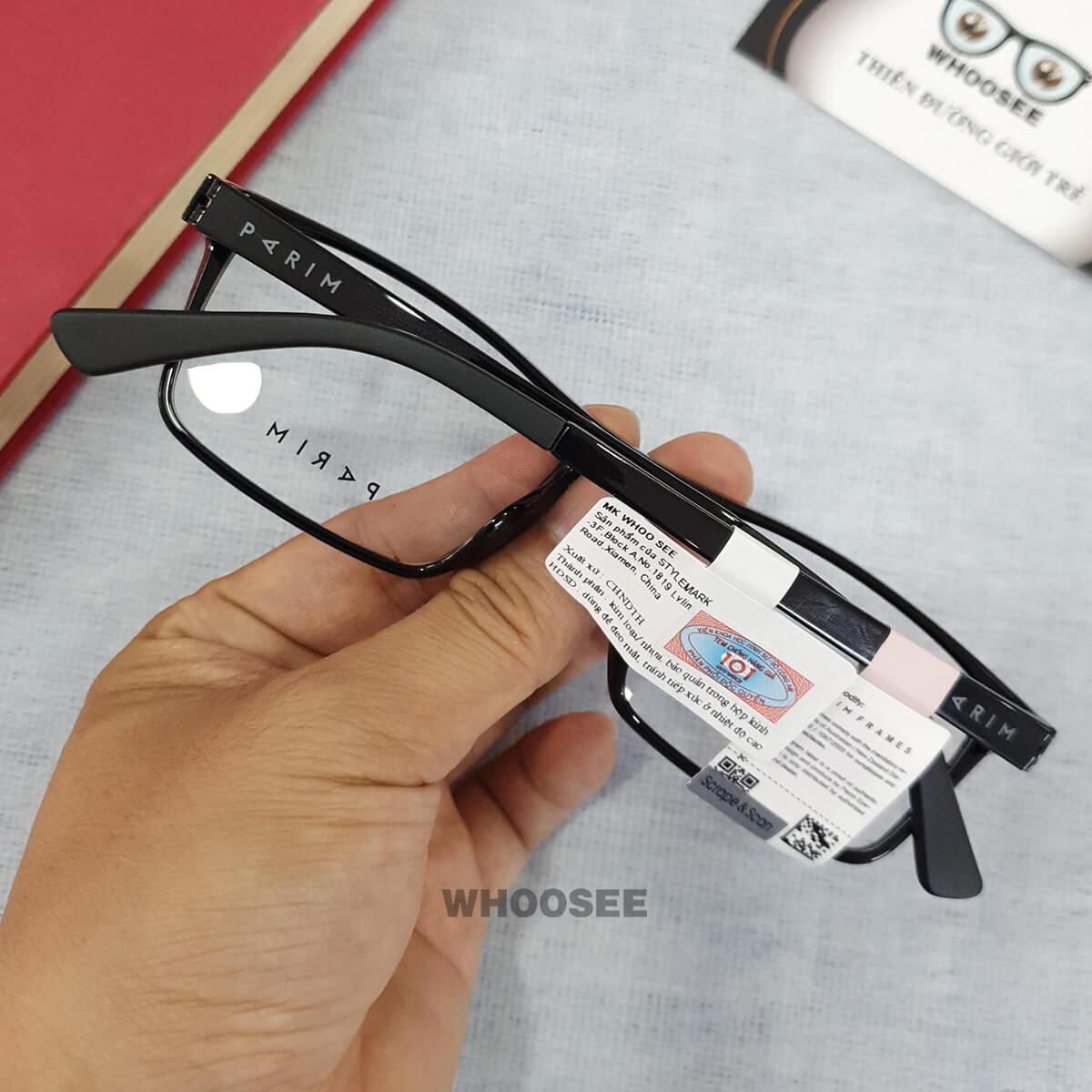 Gọng kính cận nhựa PR7381 Parim