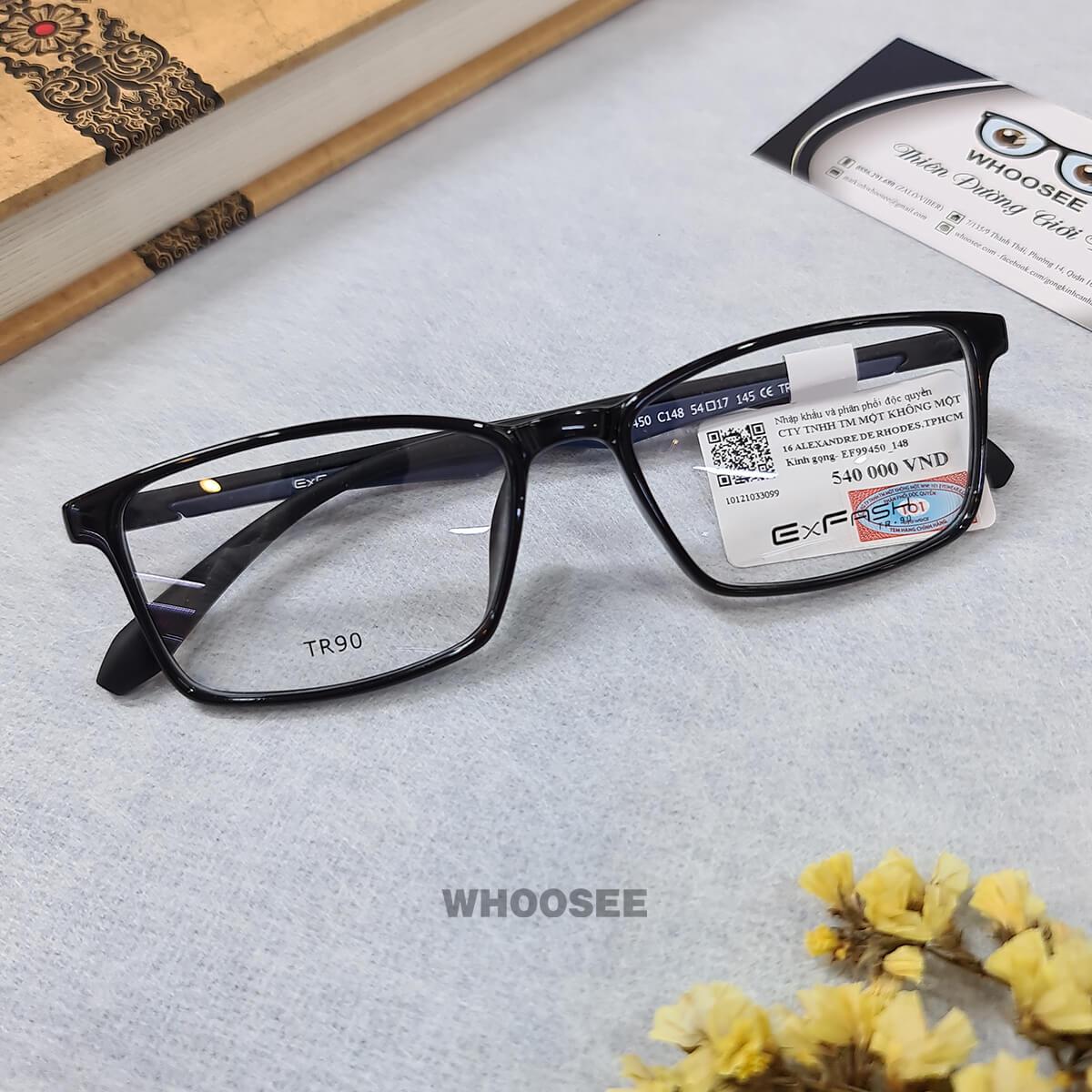 gọng kính cận form mắt vuông ef99450 c148 exfash