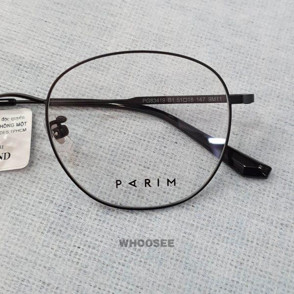 Gọng Kính Cận Form Tròn đen Pg83419 Parim
