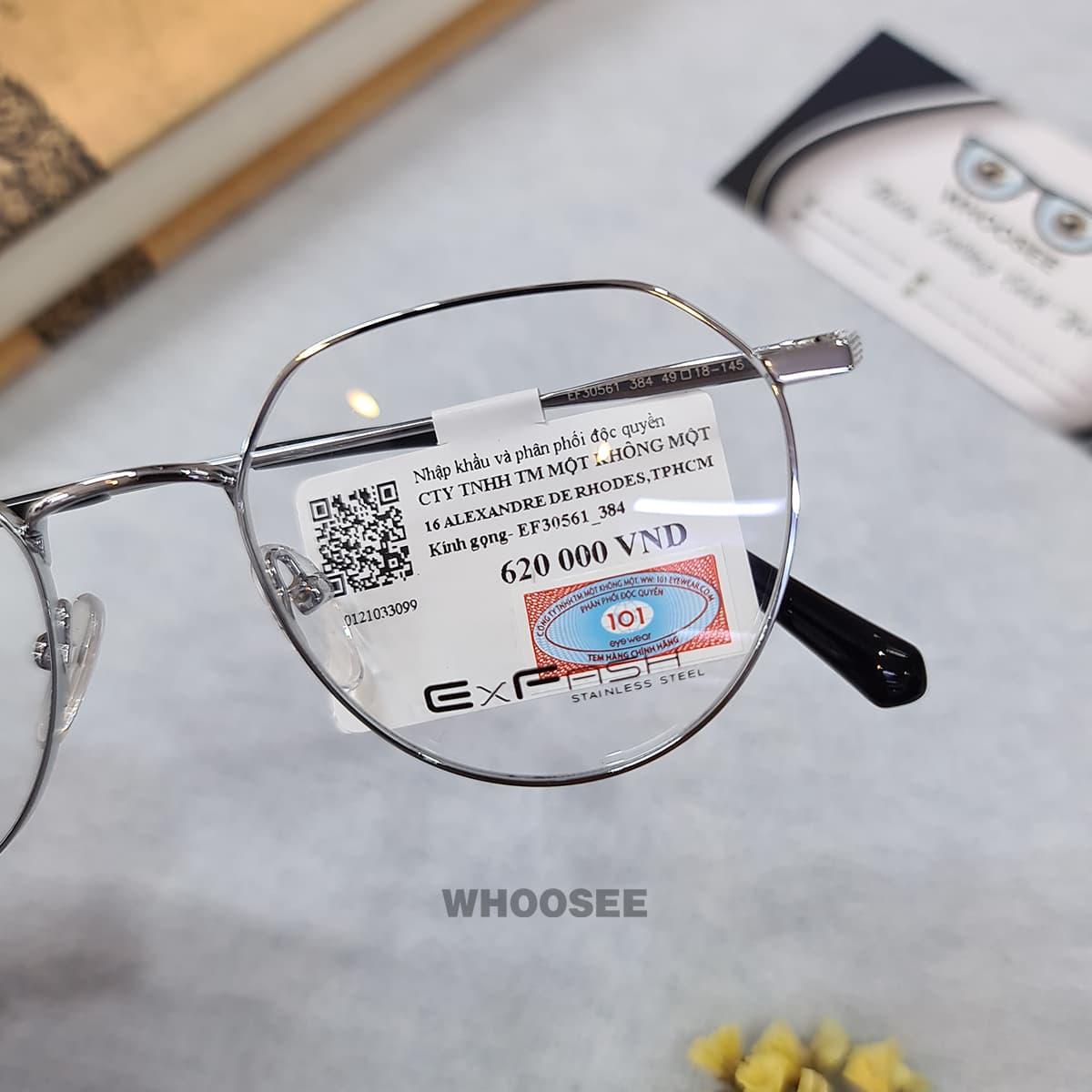 gọng kính cận kim loại ef30561 384 exfash