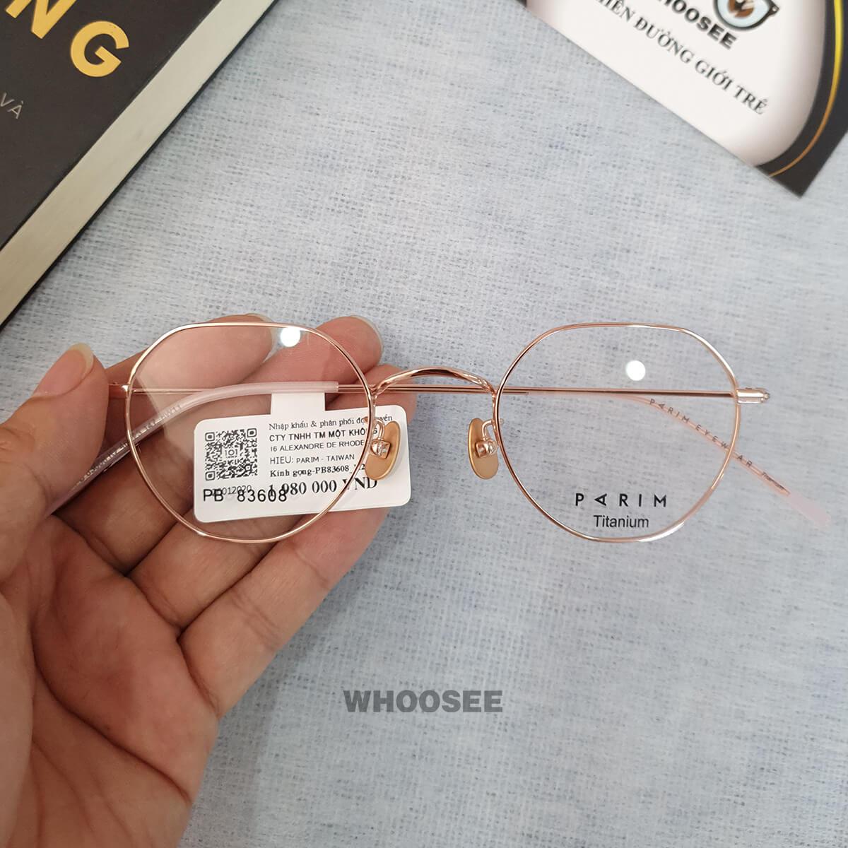 Gọng kính cận kim loại PB83608 Parim