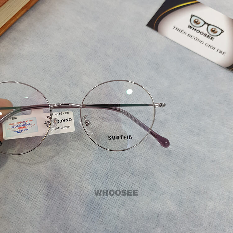 Gọng kính cận kim loại SH9819-Suofeia