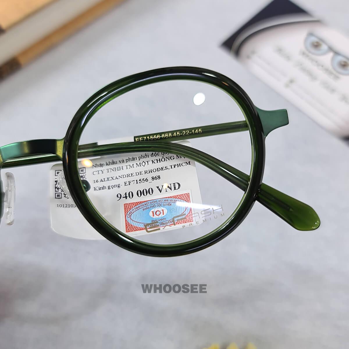 gọng kính cận kim loại nhựa ef71556 868 exfash