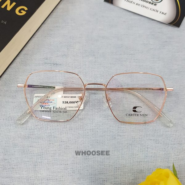 Gọng kính cận kim loại nữ CR18668 Career Men