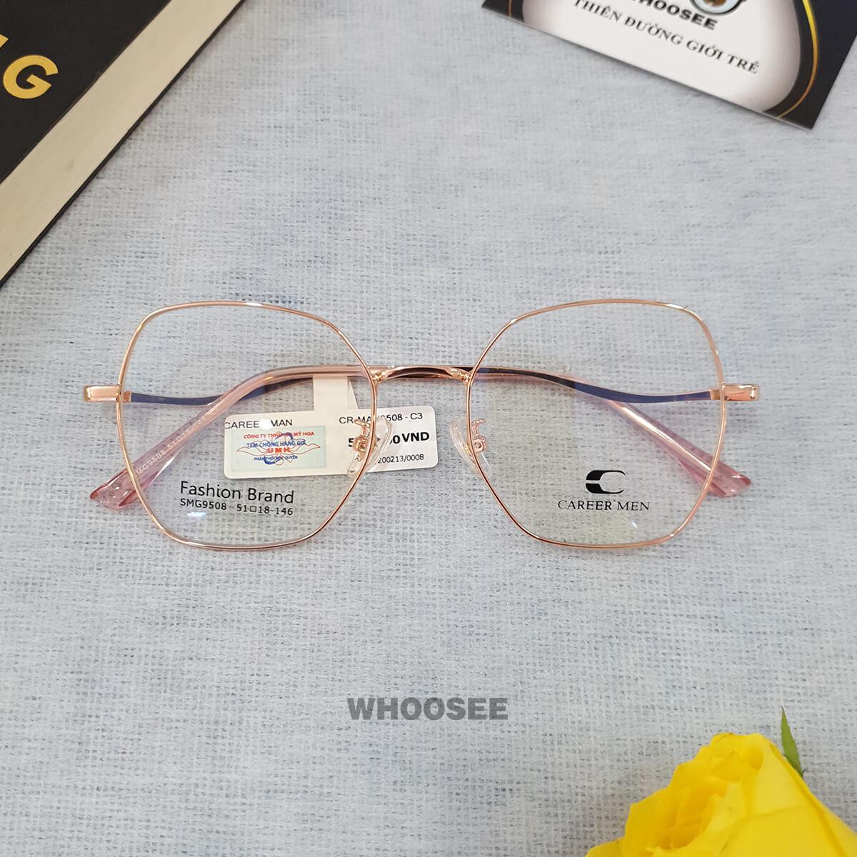 Gọng kính cận kim loại nữ CR9508 Career Men