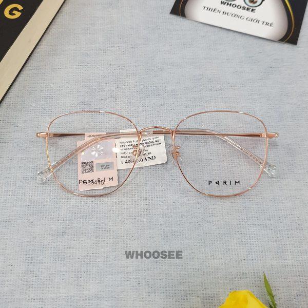 Gọng kính cận kim loại nữ PG83415 Parim