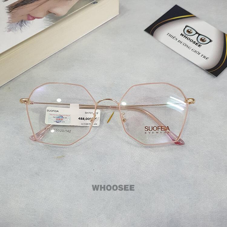 Gọng kính cận kim loại nữ SH731–Suofeia