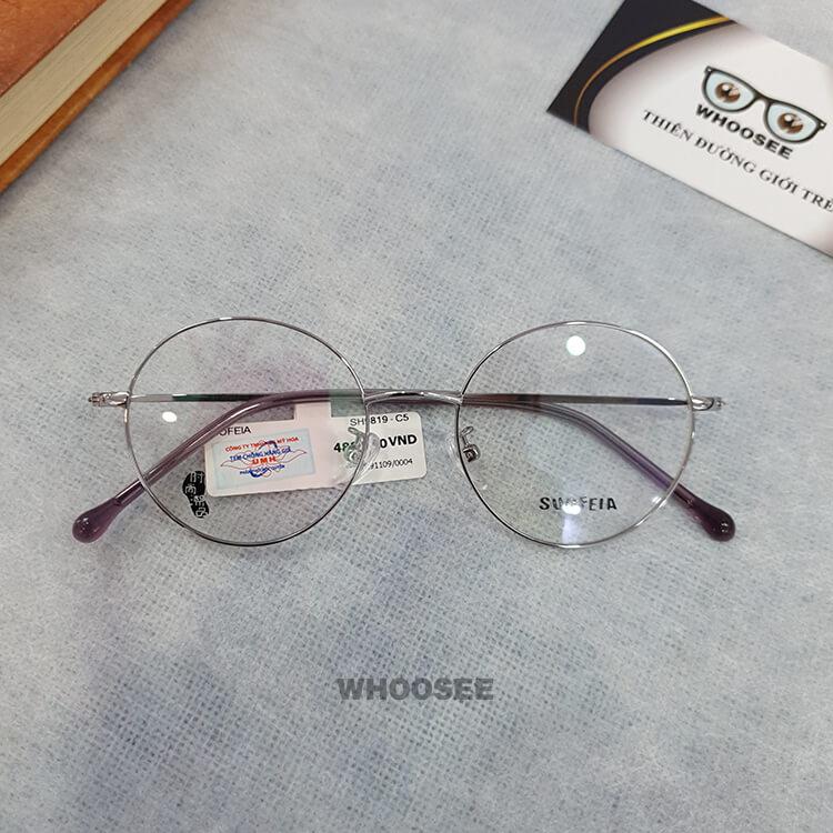 Gọng kính cận kim loại nữ SH9819-Suofeia