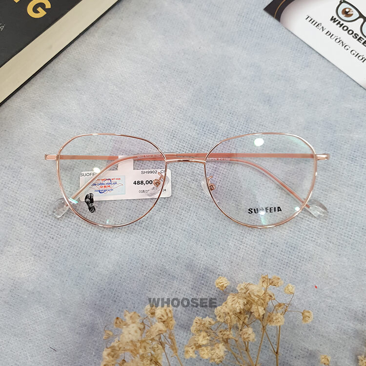 Gọng kính cận kim loại nữ SH9902-Suofeia