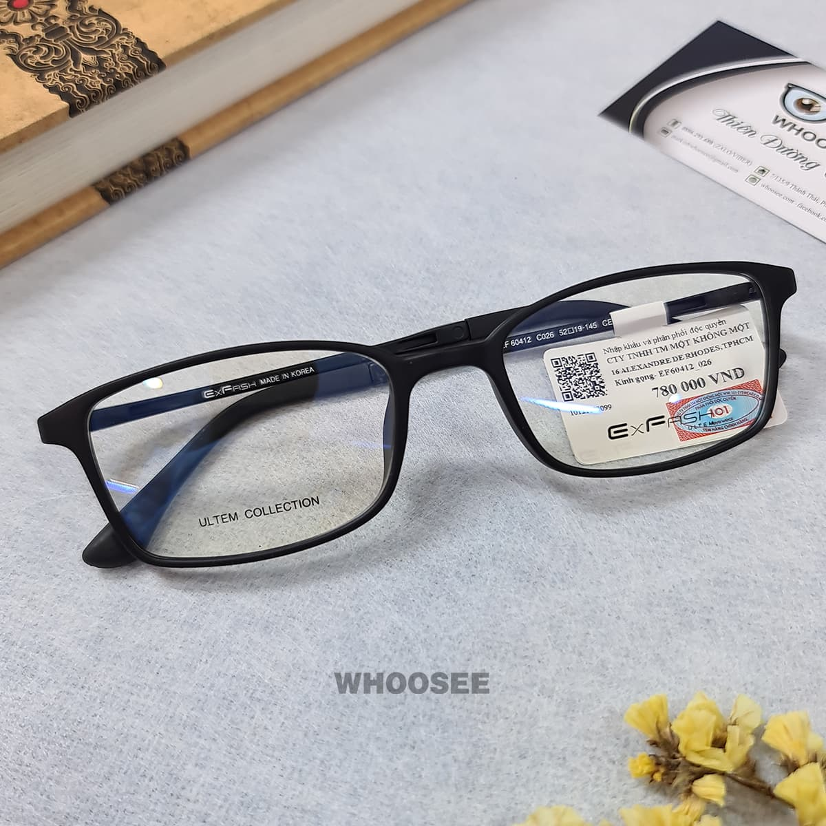 gọng kính cận màu đen cho nam nữ ef60412 c026 exfash