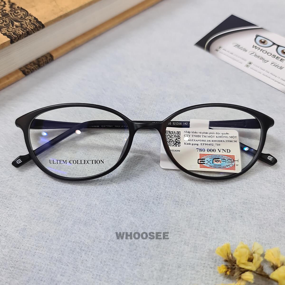 gọng kính cận nhựa dẻo form mắt mèo cho nữ ef90452 c710 exfash