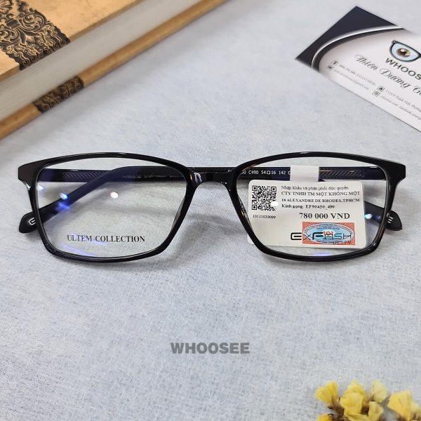 gọng kính cận nhựa dẻo form vuông cho nam nữ ef90450 c490 exfash
