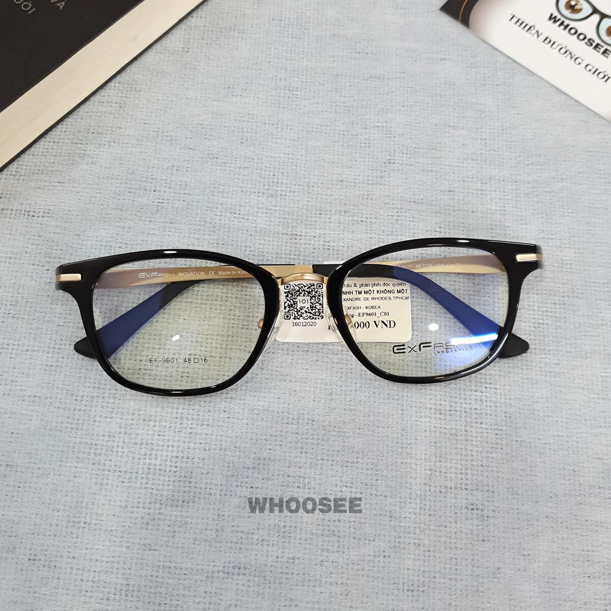 Gọng kính cận nhựa nam EF9601–Exfash