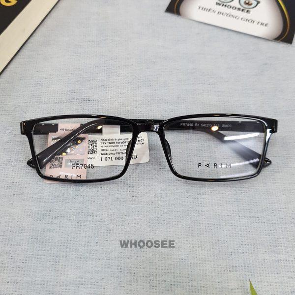 Gọng kính cận nhựa nam PR7845 Parim
