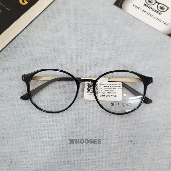 Gọng kính cận nhựa nữ EF18555 D0 Exfash