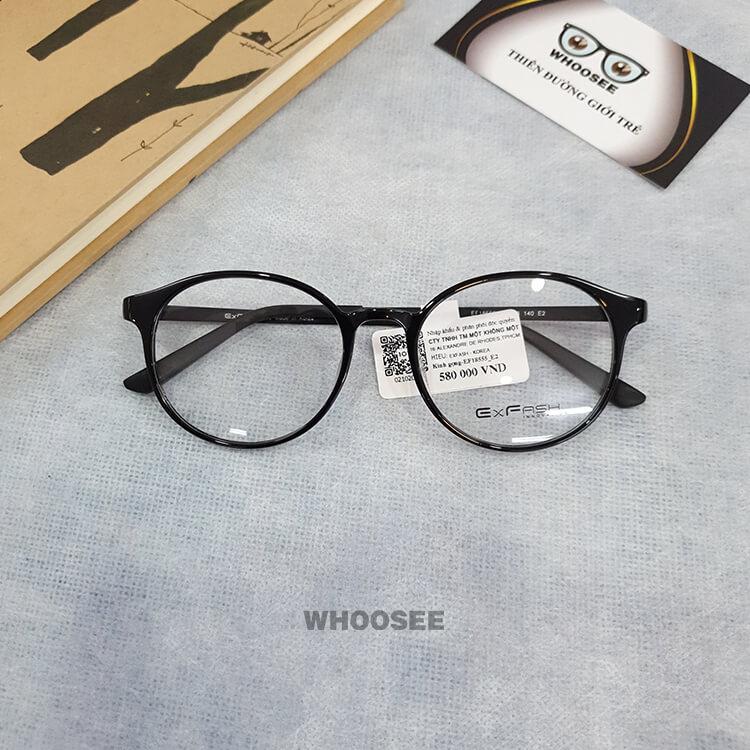 Gọng kính cận nhựa nữ EF18555 E2 Exfash