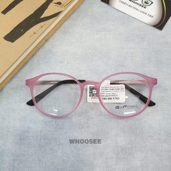 Gọng kính cận nhựa nữ EF18555 F2 Exfash