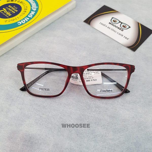 Gọng kính cận nhựa unisex PR7835-Parim