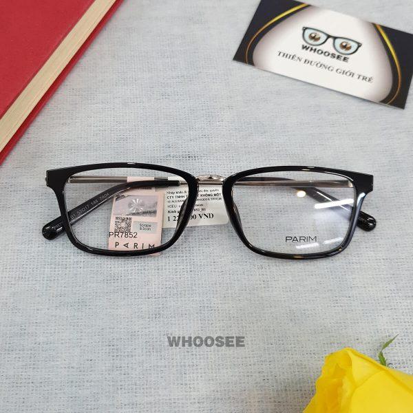 Gọng kính cận nhựa unisex PR7852 Parim