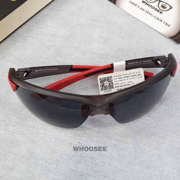 kính mát thể thao màu đen nhám đỏ ef6783 c25 exfash