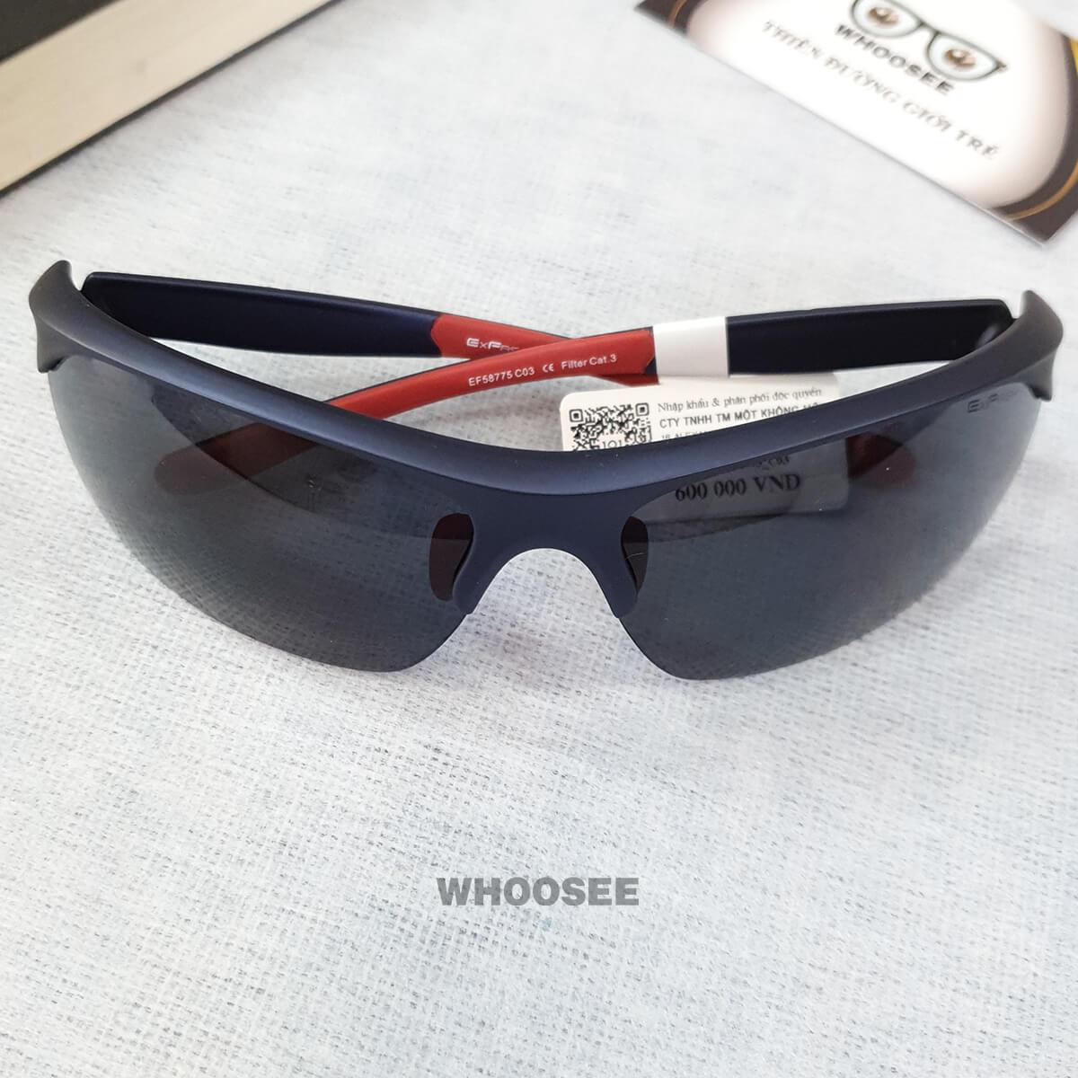 kính mát thể thao nam màu đen đỏ bằng nhựa ef58775 c03 exfash