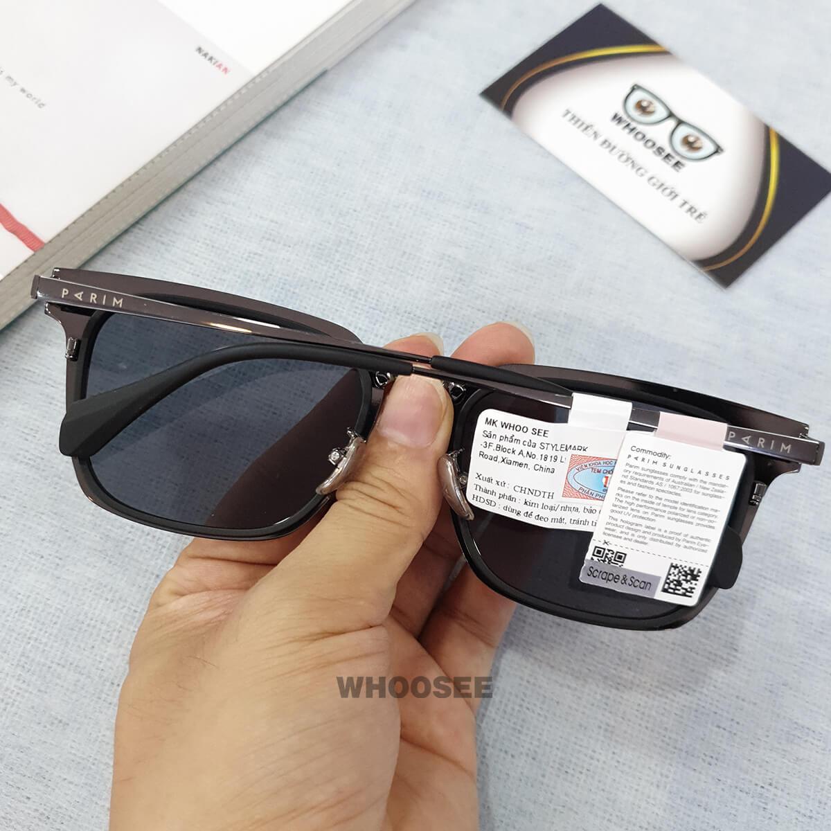 kính mát thời trang nam pr72401 b2 parim