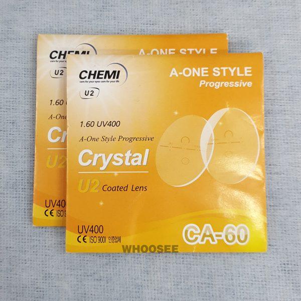 Tròng Kính đa Tròng Chemi Crystal U2 Coated Lens 1 60